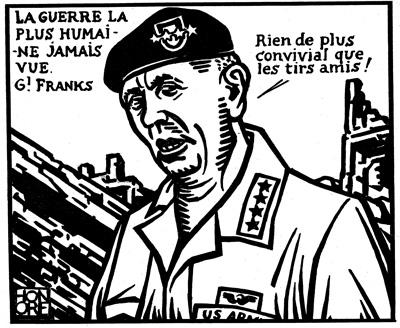 Dessin d'Honoré pour le premier numéro de {CQFD}. Un dessinateur d'un immense talent! {JPEG}